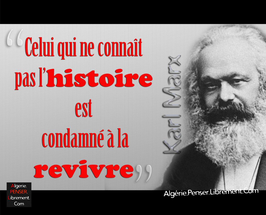 Citation De Karl Marx Algerie Penser Librement