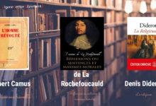 Photo of Téléchargez : Camus, Diderot et de La Rochefoucauld